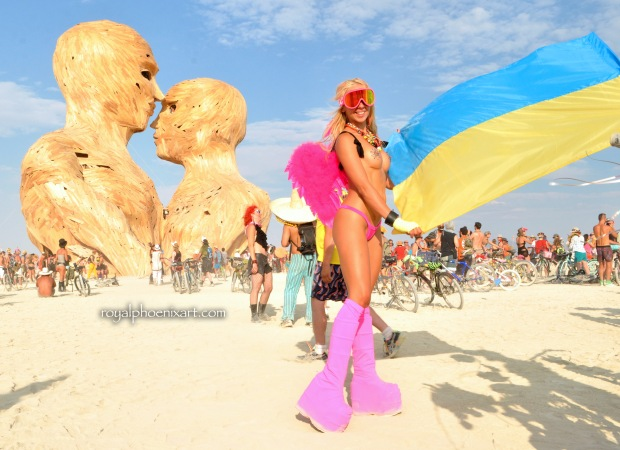 Ukrainian Burning Man Embrace